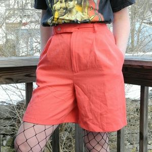 Salmon colored shorts